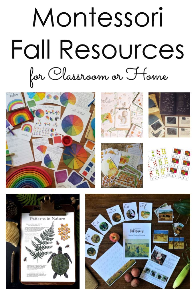 Montessori Fall Resources for Classroom or Home