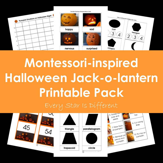 Montessori-Inspired Halloween Jack-o-Lantern Printable Pack from Every Star Is Different