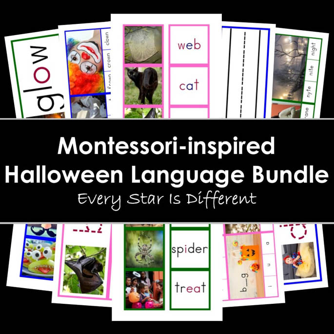 Montessori-Inspired Halloween Language Bundle from Every Star Is Different