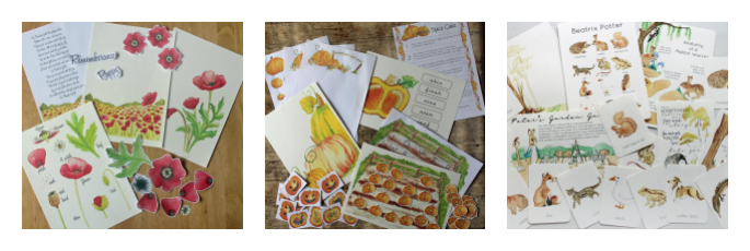 Poppy Pack, Pumpkin Pack, and Beatrix Potter Literature Pack by Fiddlesticks Kids