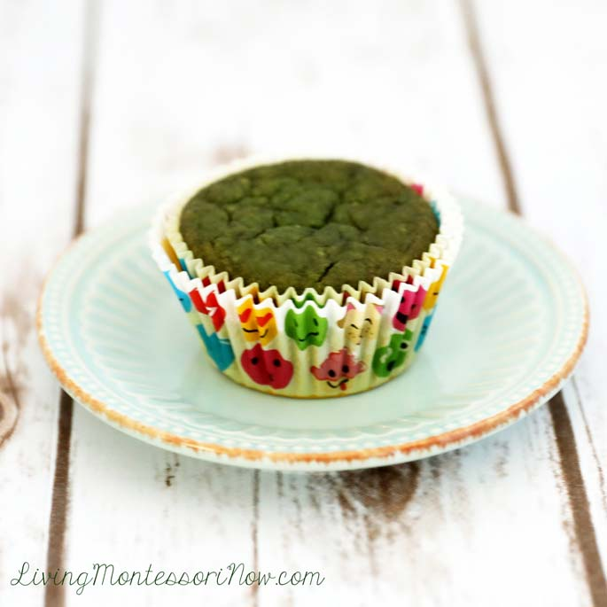 Gluten-Free Sweet Spinach Muffins {aka Green Monster Muffins}