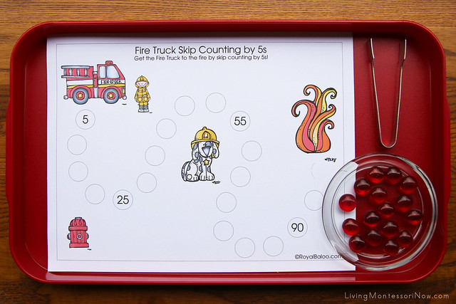 Fire Truck Skip Counting by 5s