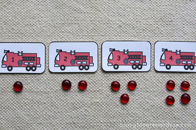 Fire Engine Cards and Counters Layout