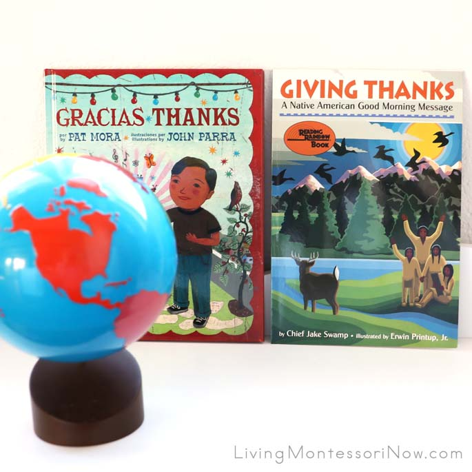 Books Gracias Thanks and Giving Thanks with Continents Globe