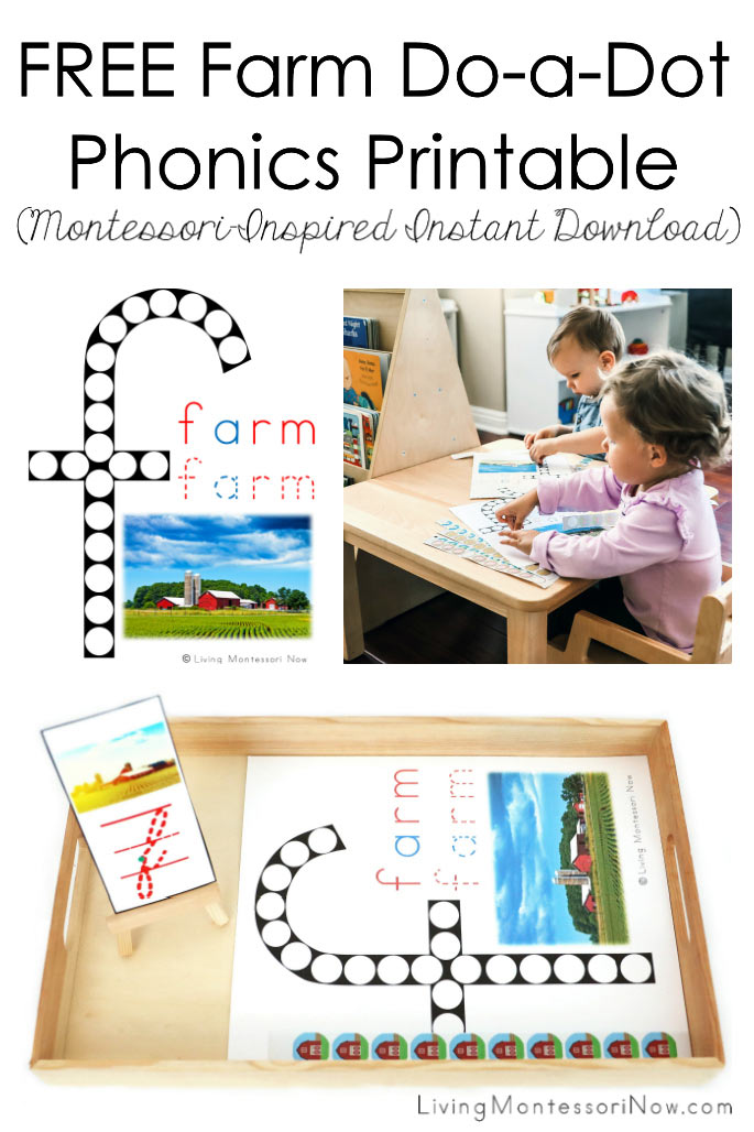 FREE Farm Do-a-Dot Phonics Printable (Montessori-Inspired Instant Download)