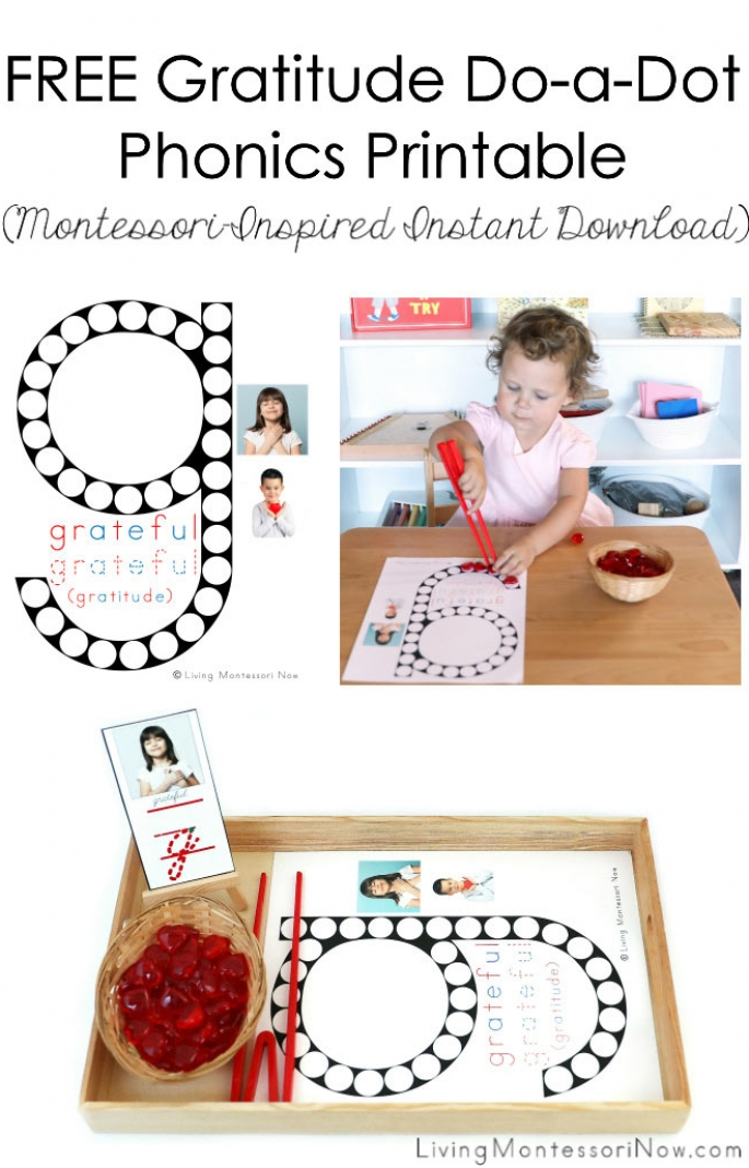 FREE Gratitude Do-a-Dot Phonics Printable (Montessori-Inspired Instant Download)