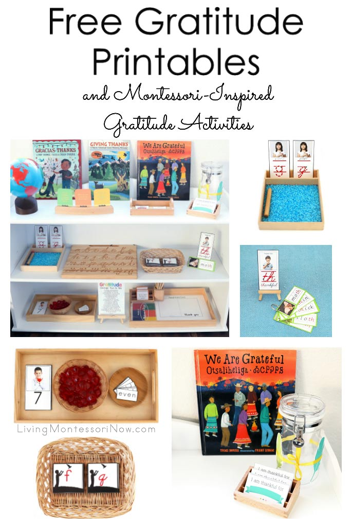 Free Gratitude Printables and Montessori-Inspired Gratitude Activities