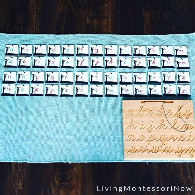 Matching Gratitude Cursive Letters to Manuscript Letters