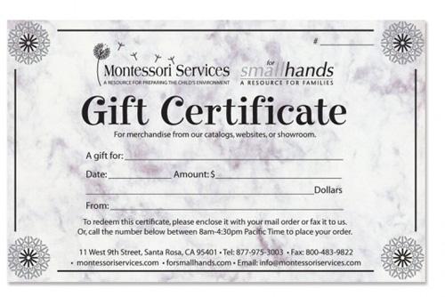 Montessori Services Gift Certificate