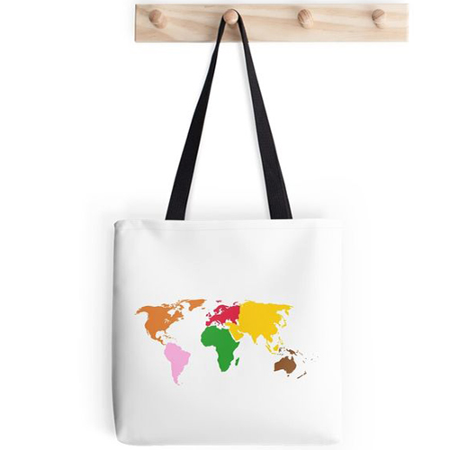 Montessori World Map Tote Bag by Grace & Courtesy on Redbubble