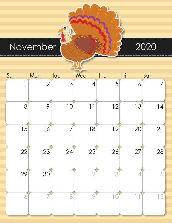 November 2020 Calendar from iMom