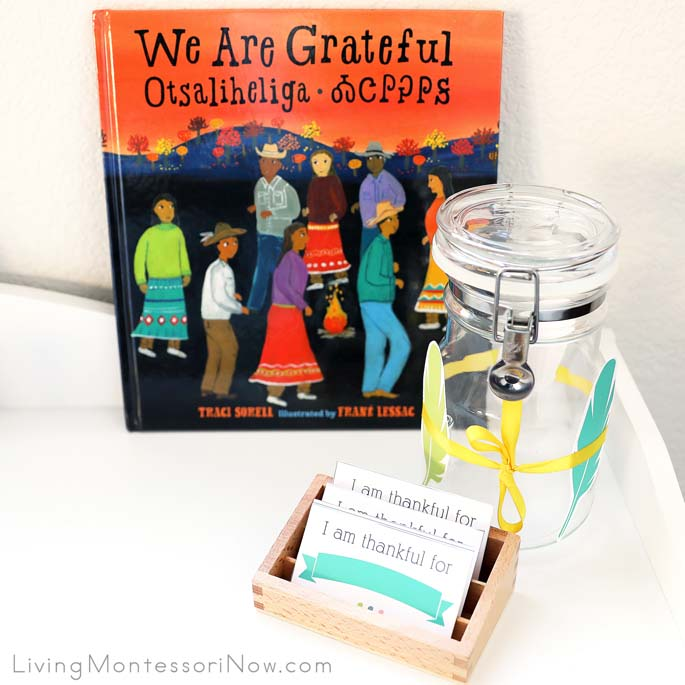 We Are Grateful Otsaliheliga Book with Gratitude Jar
