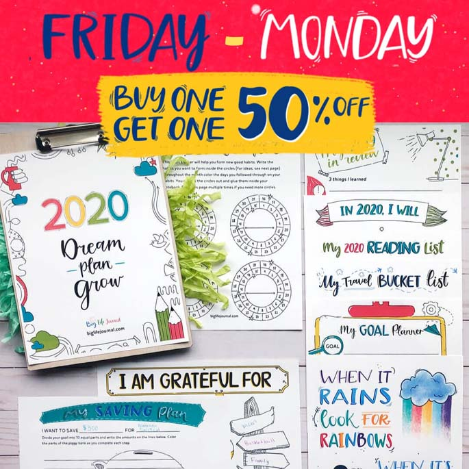 Big Life Journal Buy One Get One 50% Off Black Friday Weekend!