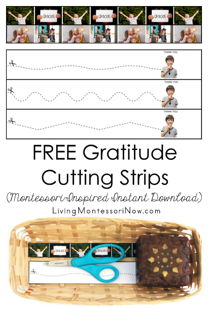 FREE Gratitude Cutting Strips (Montessori-Inspired Instant Download)