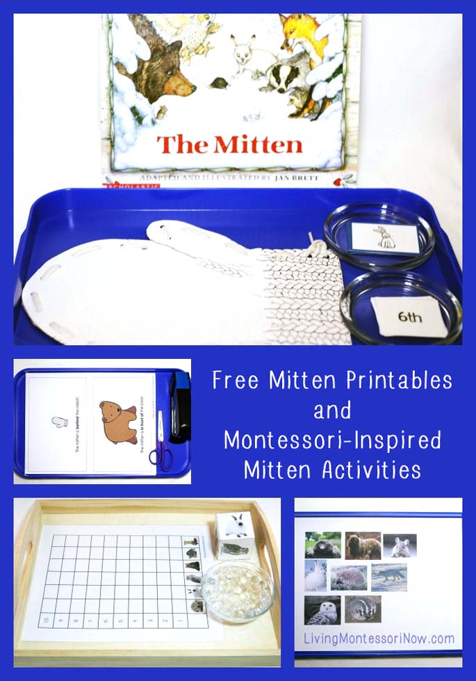 Free Mitten Printables and Montessori-Inspired Mitten Activities