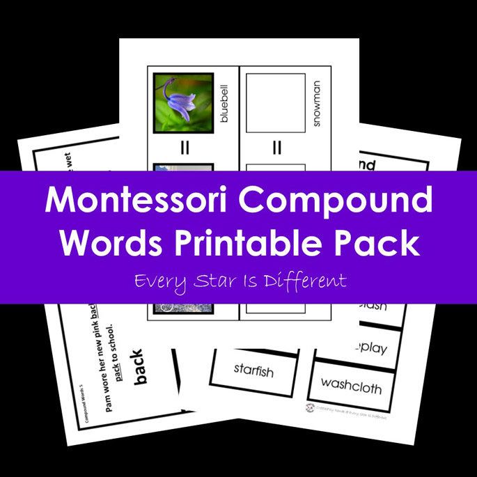 Montessori Compound Words Printable Pack from Every Star Is Different