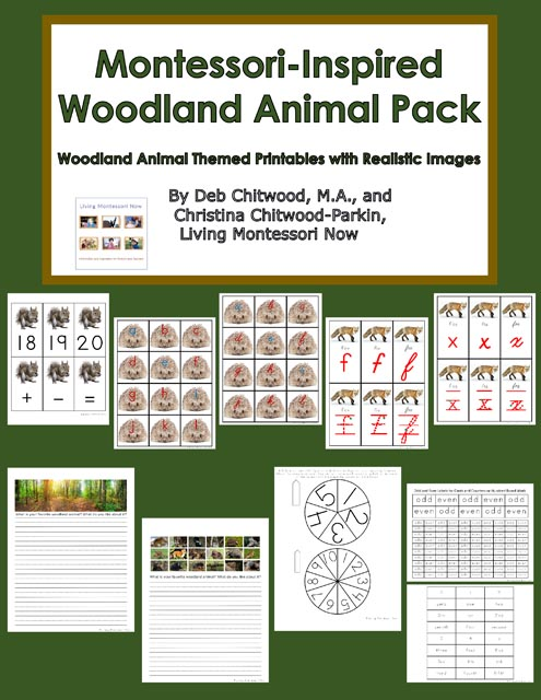 Montessori-Inspired Woodland Animal Pack