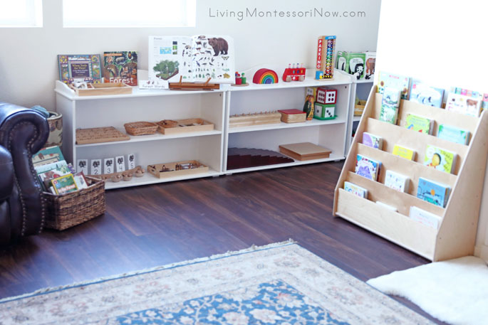 Montessori Living Room Shelves Adapted for Toddlers