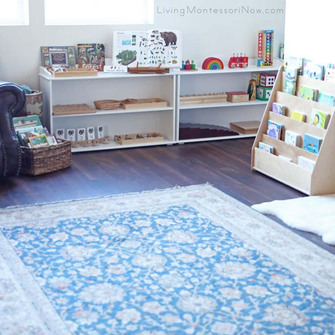 Montessori Living Room Space for Toddlers Through Early Elementary