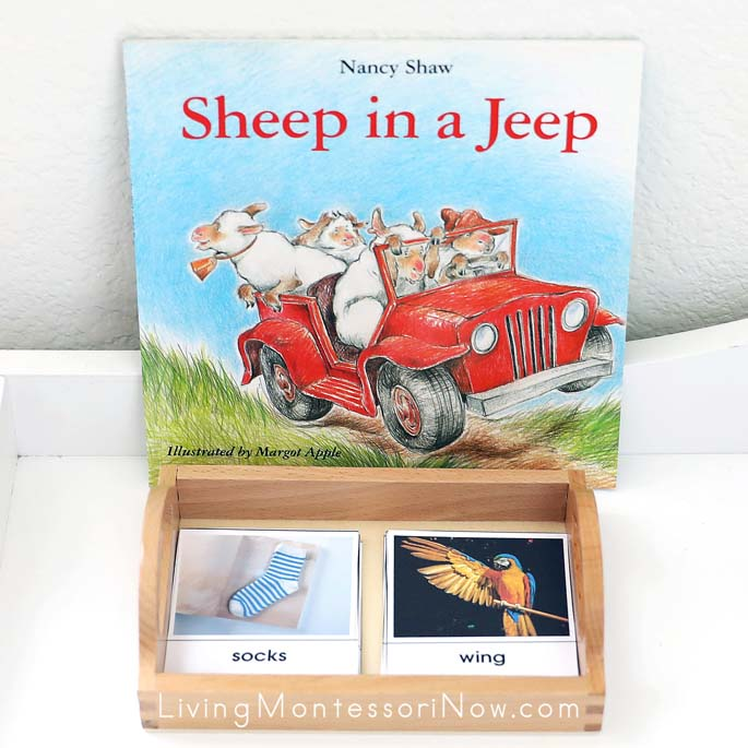 Rhyming Words Picture Matchup with Sheep in a Jeep Book