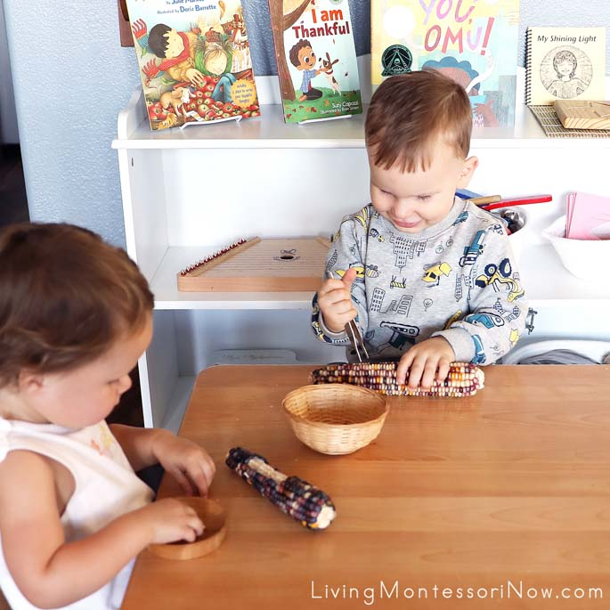 Toddler Fun with Flint Corn
