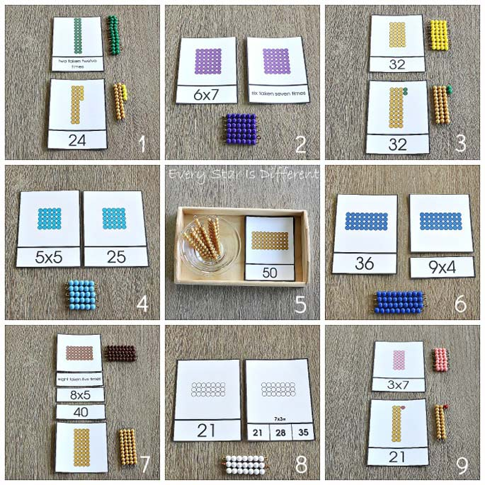 9 Ways to Practice Math Facts Using Montessori Math Bead Bars from Every Star Is Different