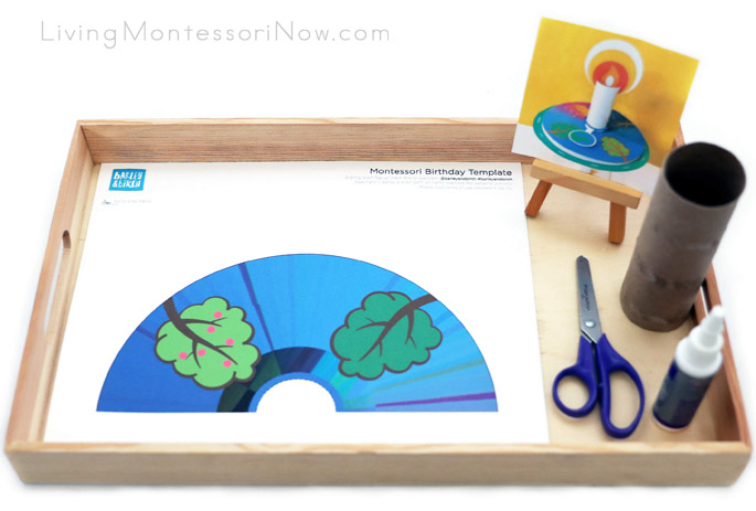 Activity Making Montessori Birthday Candle Wheel