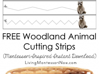 FREE Woodland Animal Cutting Strips (Montessori-Inspired Instant Download)