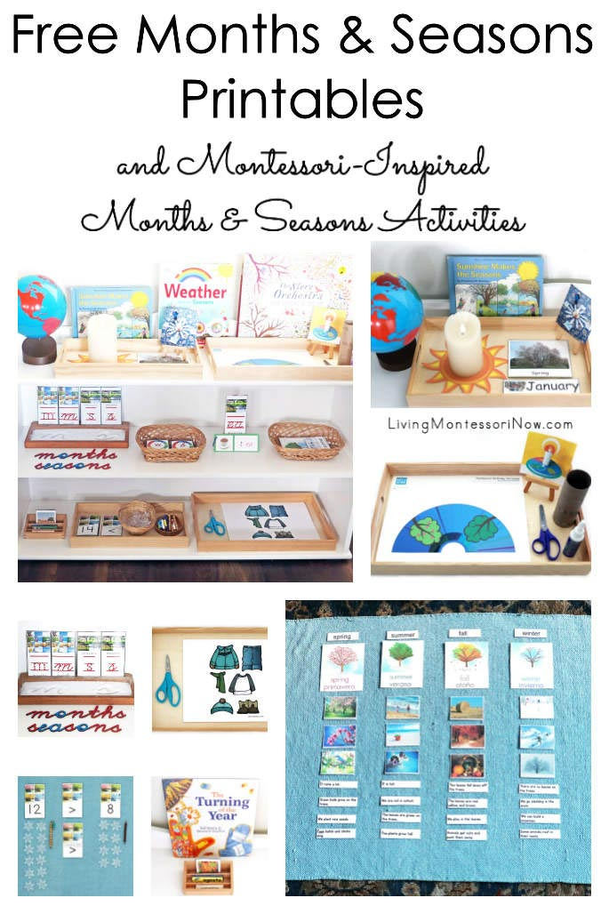 Free Months and Seasons Printables and Montessori-Inspired Months and Seasons Activities