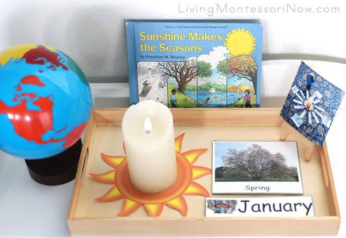 Montessori Celebration of Life Activity with Months and Seasons and Sunshine Makes the Seasons Book