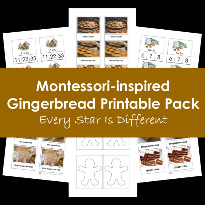 Montessori-Inspired Gingerbread Printable Pack from Every Star Is Different