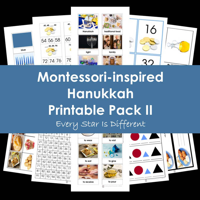 Montessori-Inspired Hanukkah Printable Pack II from Every Star Is Different