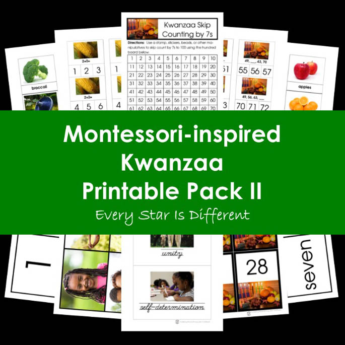 Montessori-Inspired Kwanzaa Printable Pack II from Every Star Is Different