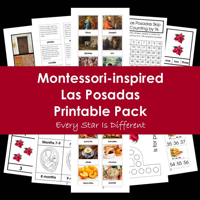 Montessori-Inspired Las Posadas Printable Pack from Every Star Is Different