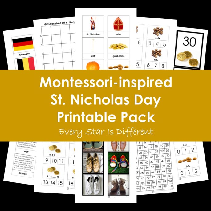 Montessori-Inspired St Nicholas Day Printable Pack from Every Star Is Different