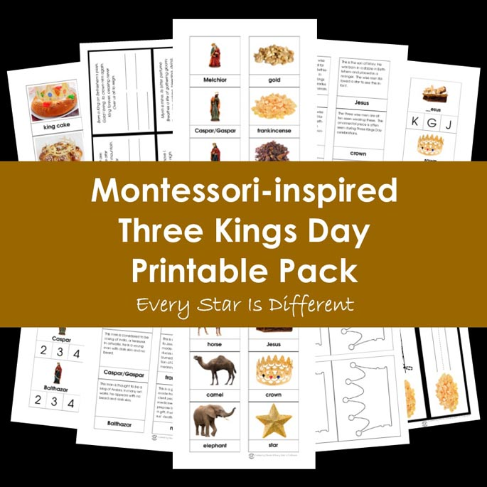 Montessori-Inspired Three Kings Day Printable Pack from Every Star Is Different