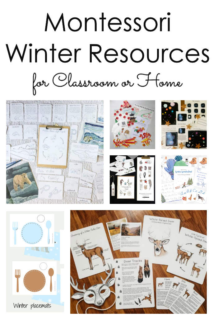 Montessori Winter Resources for Classroom or Home