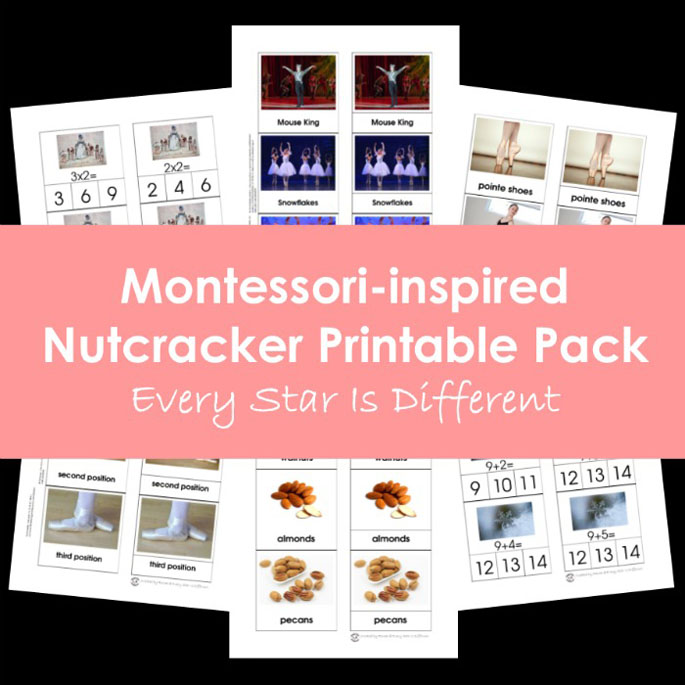 Montessori-Inspired Nutcracker Printable Pack from Every Star Is Different
