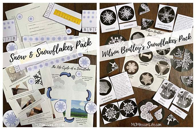 Winter Printables from Little Spark Company on Etsy