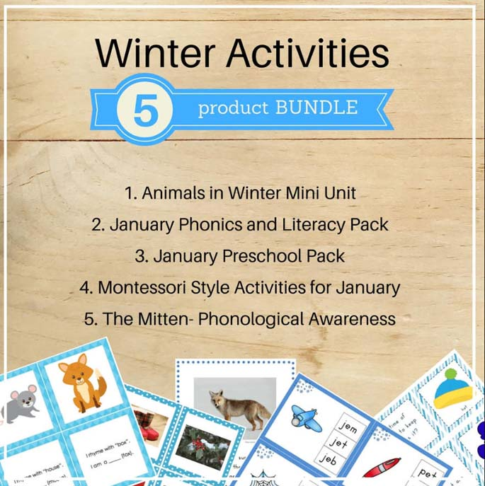 Winter Activities Bundle from Trillium Montessori
