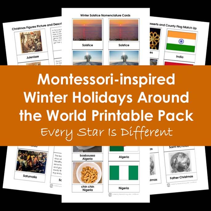 Montessori-Inspired Winter Holidays Around the World Printable Pack