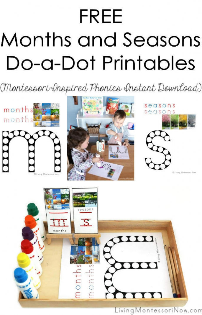 FREE Months and Seasons Do-a-Dot Printables (Montessori-Inspired Instant Download)