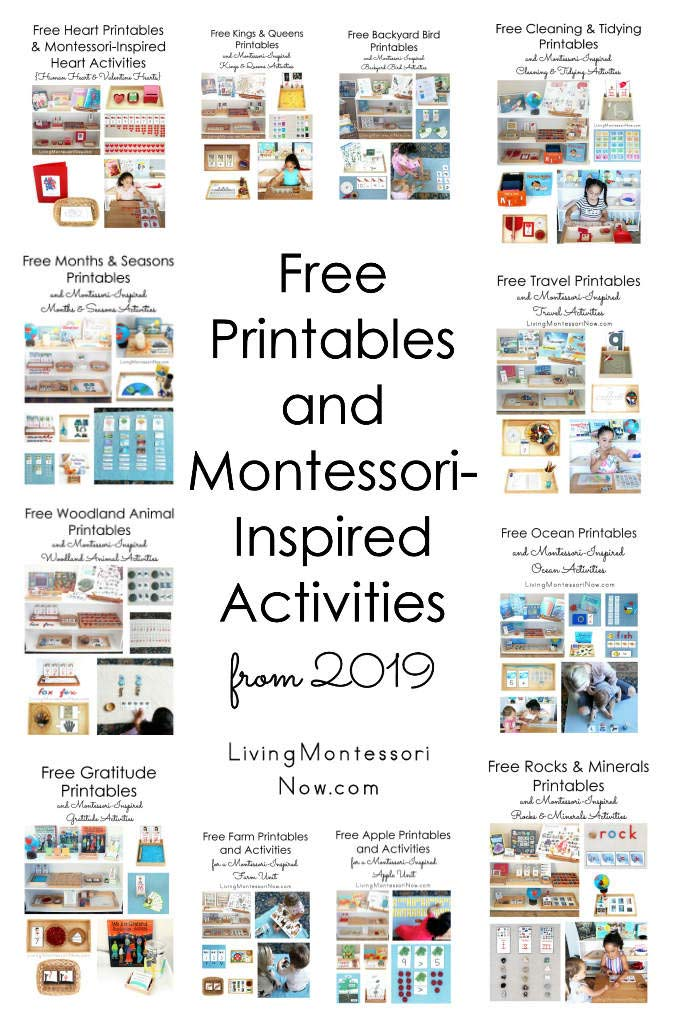Free Printables and Montessori-Inspired Activities from 2019