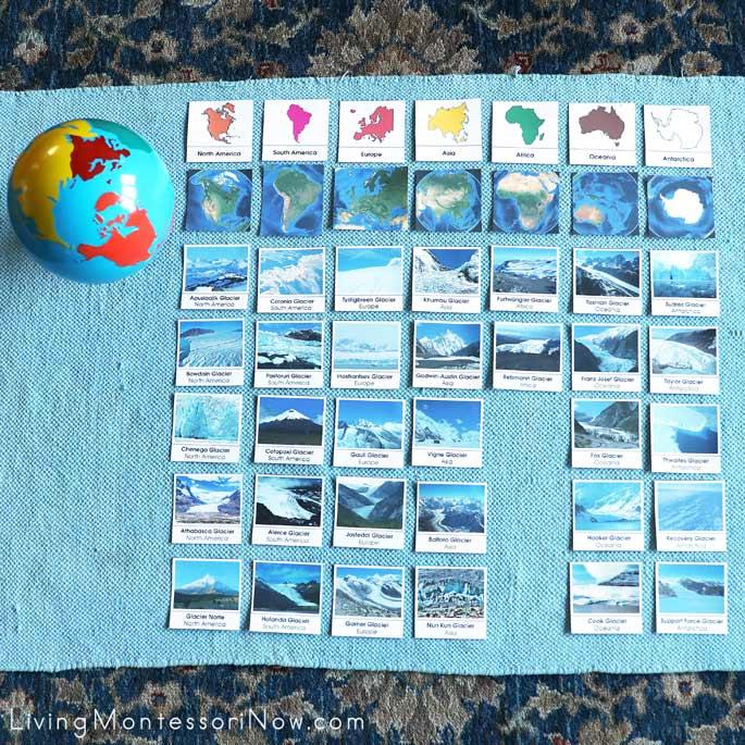 Montessori Glacier Continent Sort