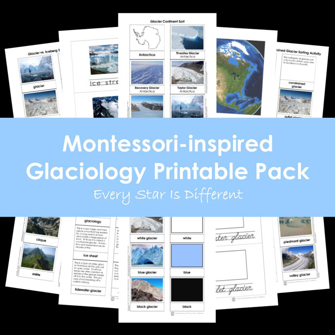 Montessori-Inspired Glaciology Printable Pack from Every Star Is Different