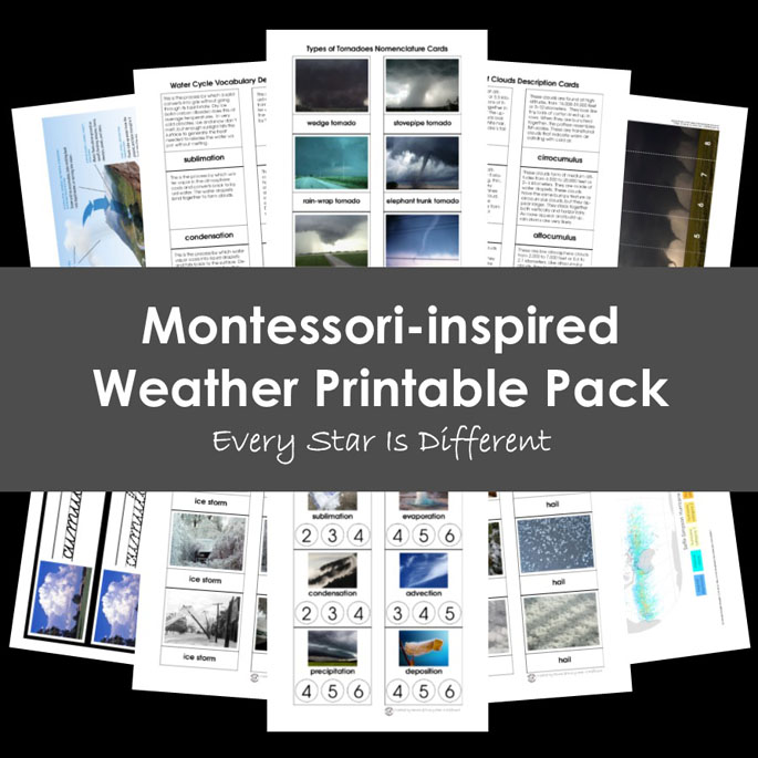Montessori-Inspired Weather Printable Pack from Every Star Is Different