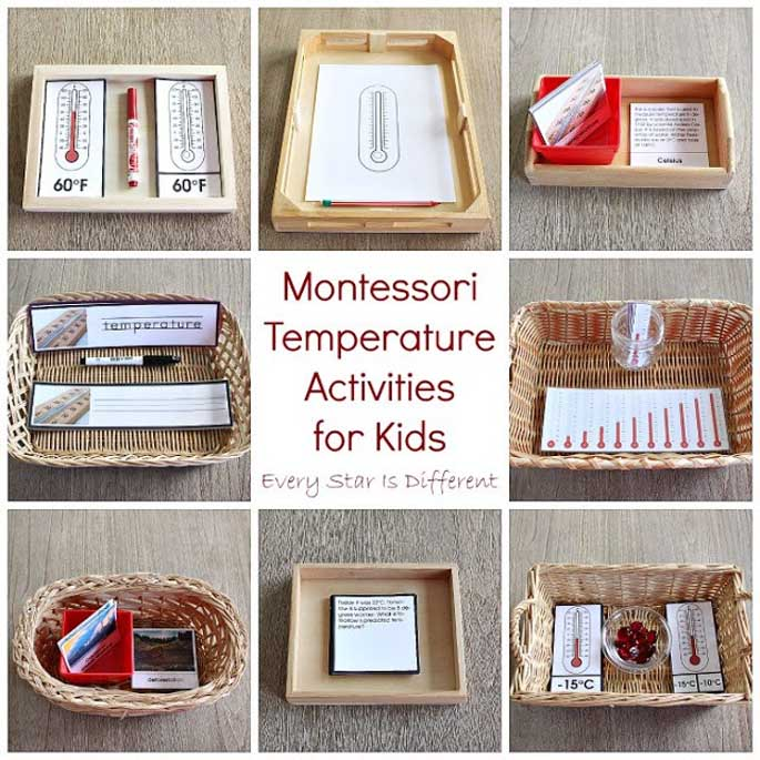 Montessori Temperature Activities for Kids from Every Star Is Different