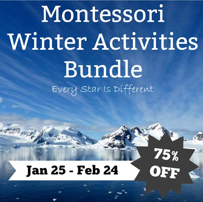 Montessori Winter Activities Bundle from Every Star Is Different 75% off January 25-February 24