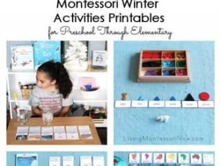 Montessori Winter Activities Printables for Preschool Through Elementary from Every Star Is Different