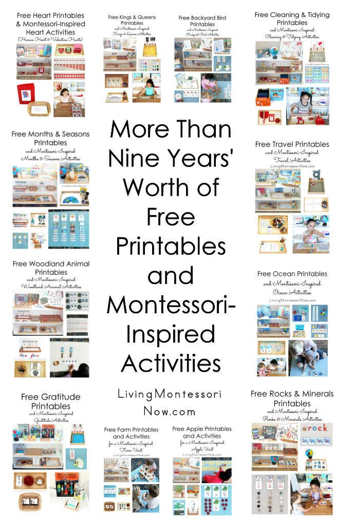 More Than Nine Years' Worth of Free Printables and Montessori-Inspired Activities